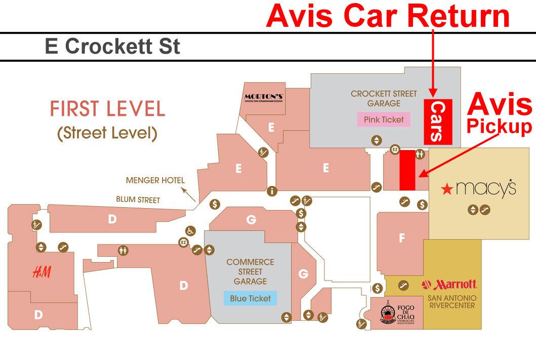 Avis Car Return And Pickup Downtown San Antonio Car